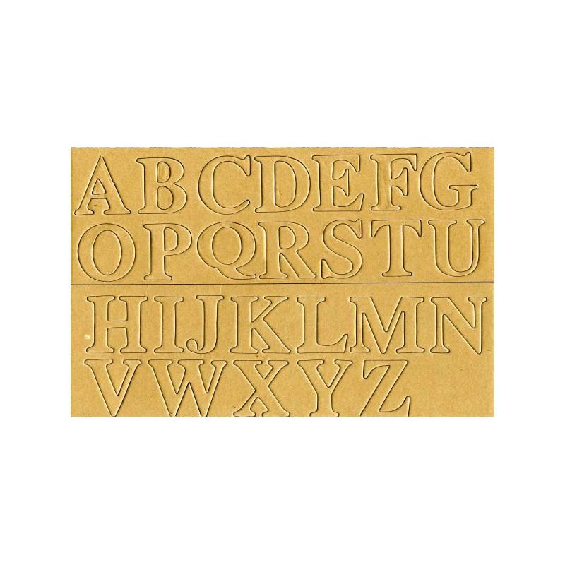 Alphabet papier mâché