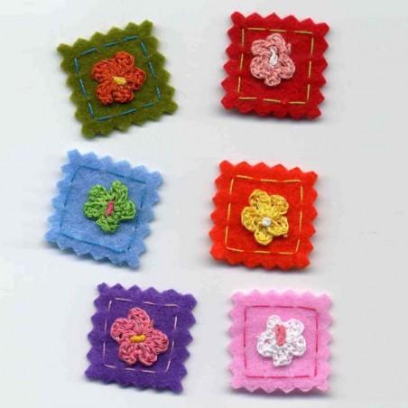 fleurs feutrine 210092