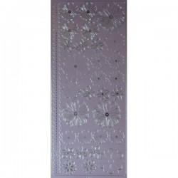 Peel off fleurs violettes