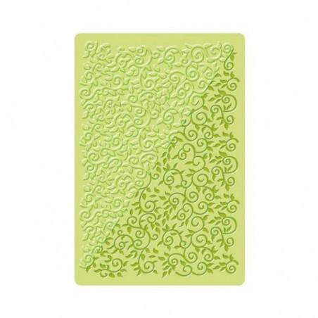 Plaque de texture fimo florale