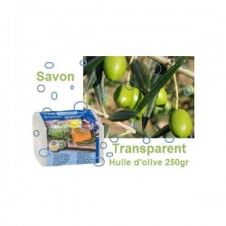 Savon à l'huile d'olive transparent 250gr