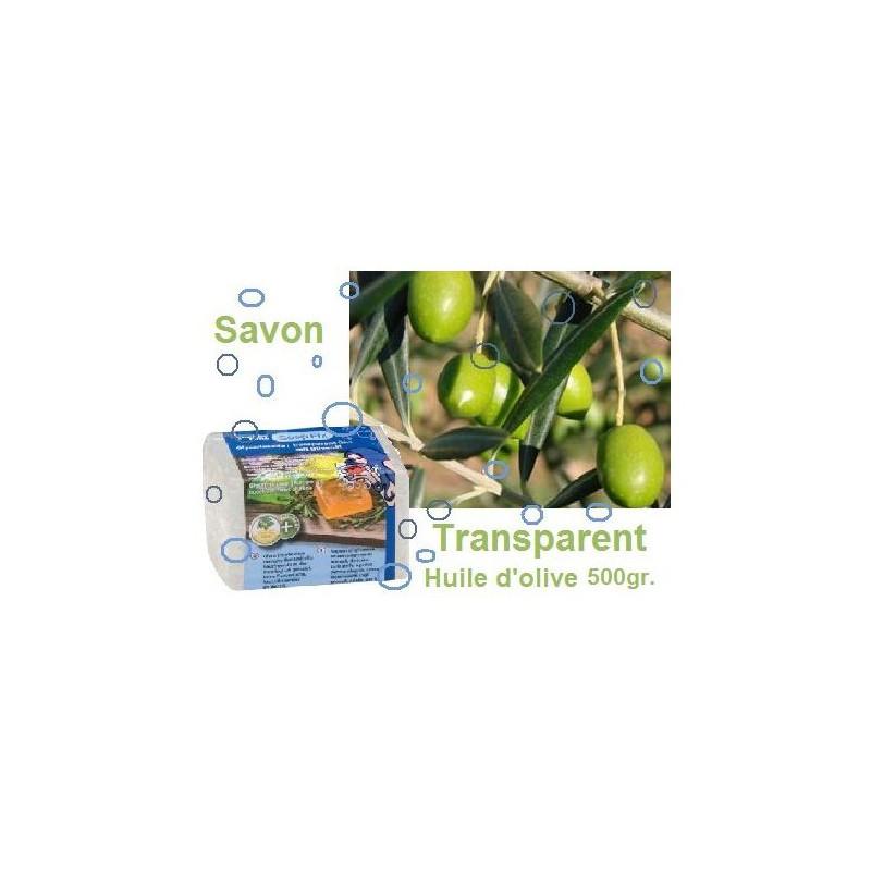 Savon à l'huile d'olive transparent 500gr