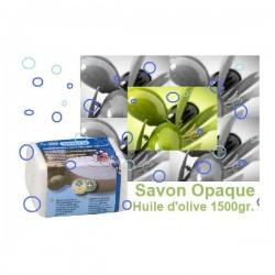 Savon à l'huile d'olive opaque 1500gr.