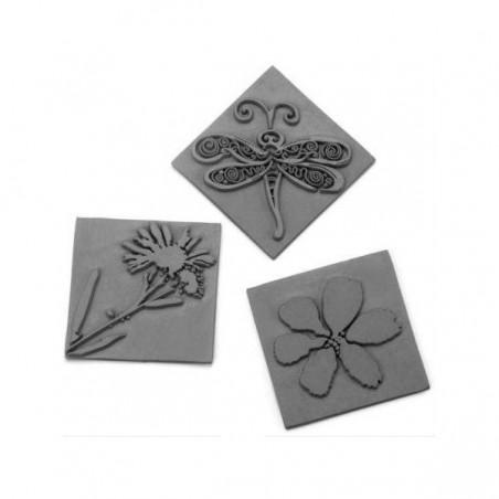 Relief fleurs pour moules carrés