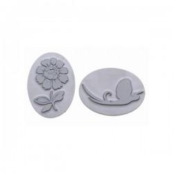 Plaque relief pour savon ovale