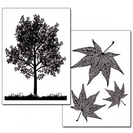 Papier de riz arbres et feuilles