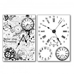 Papier de riz horloges