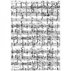 Papier de riz partitions musicales