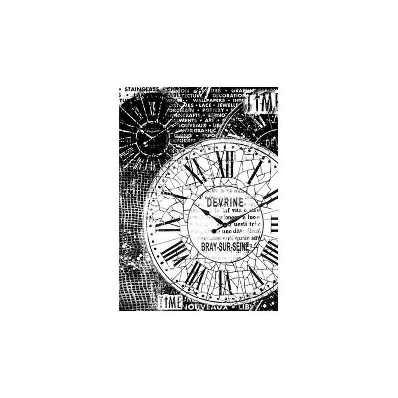 Papier de riz  horloges vingtages