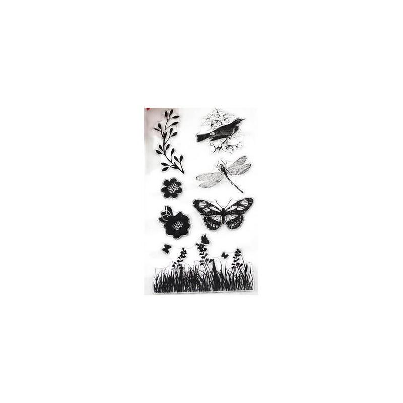 Tampons oiseau libellule