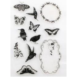 Tampon oiseaux-papillons
