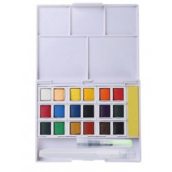 Palette aquarelle 18 demi godets